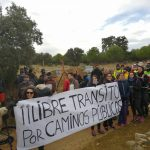 Marcha reivindicativa por la apertura y uso de los caminos públicos. Camino de la Alcantarilla al Castañar. Mazarambroz